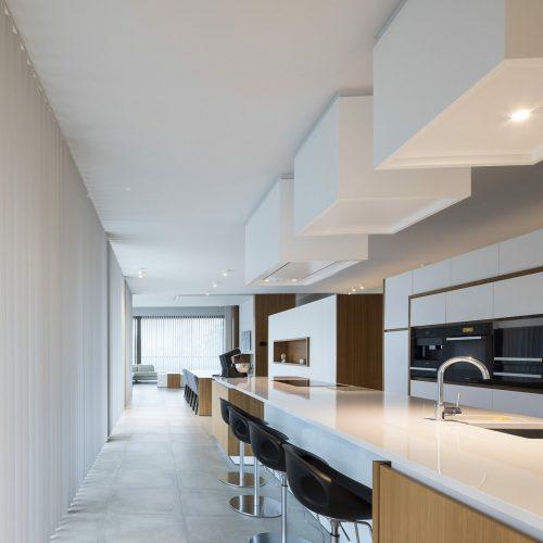 Horizontale lamellen keuken